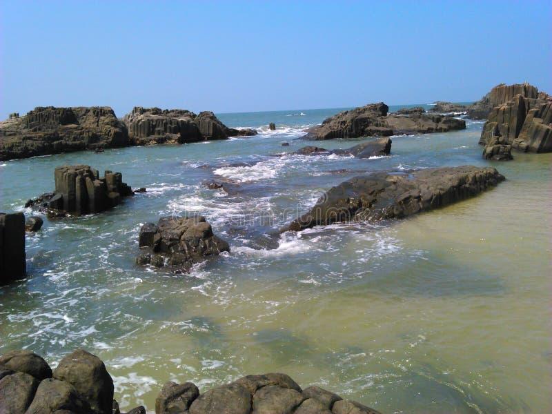 Wolk, golven en wondeer volledig klimaat stock foto