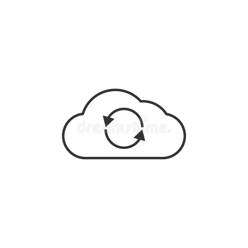 Wolk, het pictogram van de herladenlijn Eenvoudige, moderne vlakke vectorillustratie voor mobiele app, website of Desktop app royalty-vrije illustratie