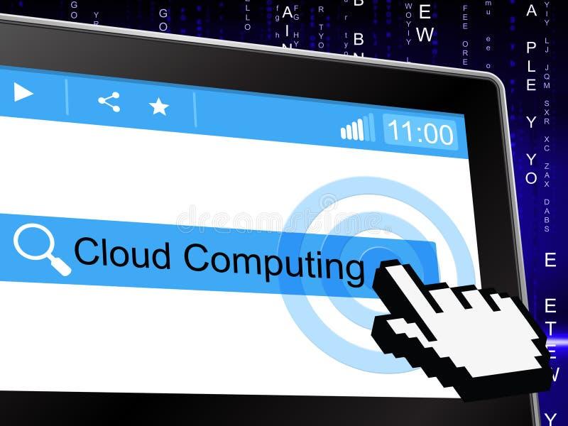 Wolk Informatietechnologie van Gegevensverwerkingsmiddelen en wolk-Gegevens verwerkt vector illustratie