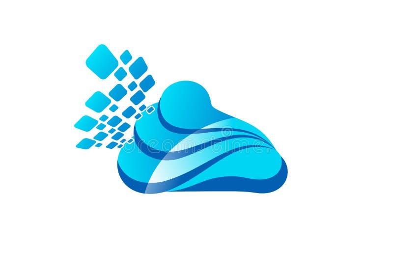 Wolk Logo Design royalty-vrije illustratie