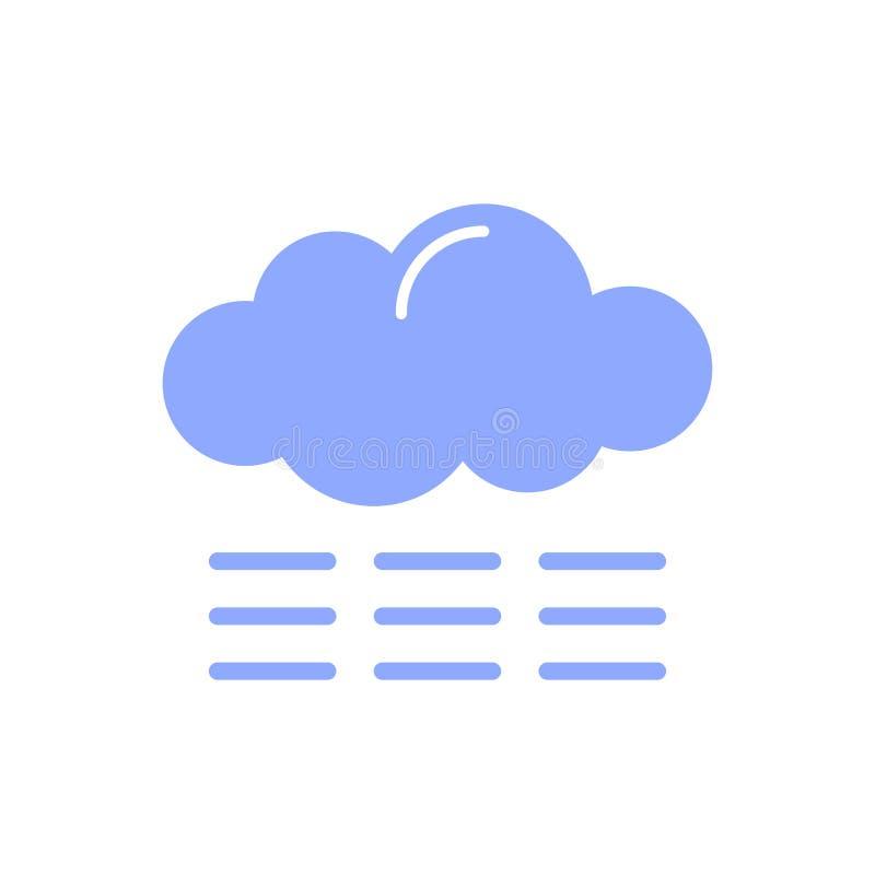 Wolk met mistpictogram vector illustratie