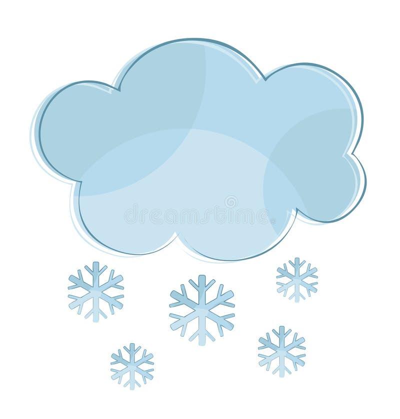 Wolk met sneeuw royalty-vrije illustratie