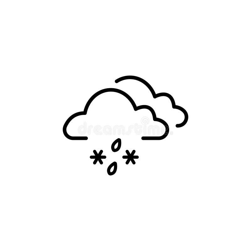 Wolk met Sneeuw en Regen vector illustratie