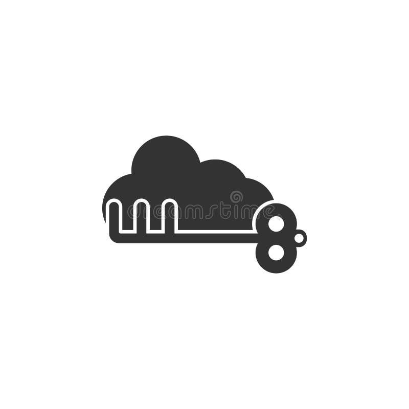 Wolk met zeer belangrijk pictogram Element van Internet-veiligheidspictogram voor mobiele concept en webtoepassingen De gedetaill stock illustratie
