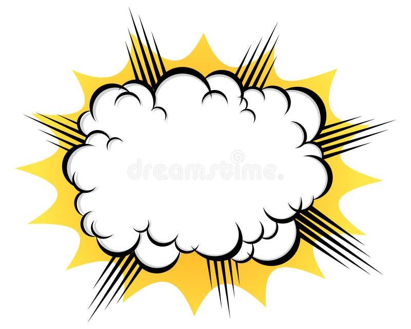 Wolk na de explosie vector illustratie