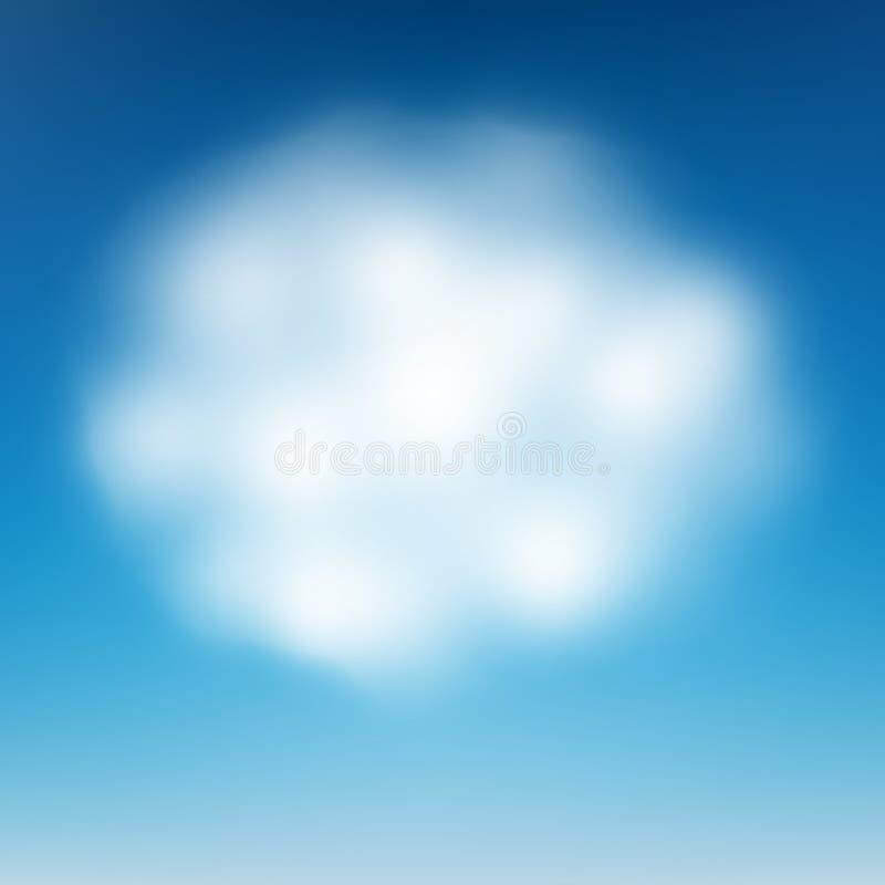 Wolk op blauwe hemel Eps 10 stock illustratie