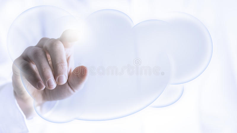 Wolk op een virtuele interface royalty-vrije stock foto's