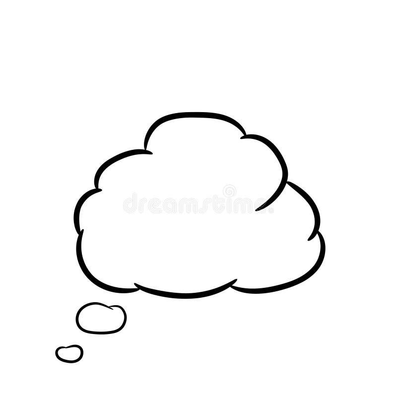 Wolk op wit van vectorillustraties wordt gedacht die vector illustratie