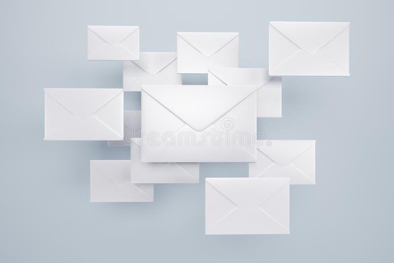 Wolk van brieven stock illustratie