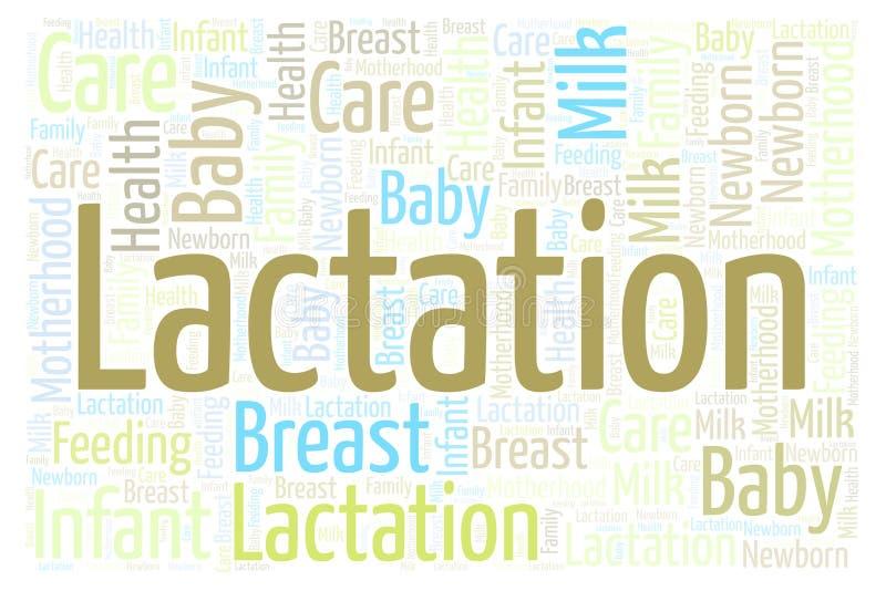 Wolk van het lactatie de horizontale woord vector illustratie