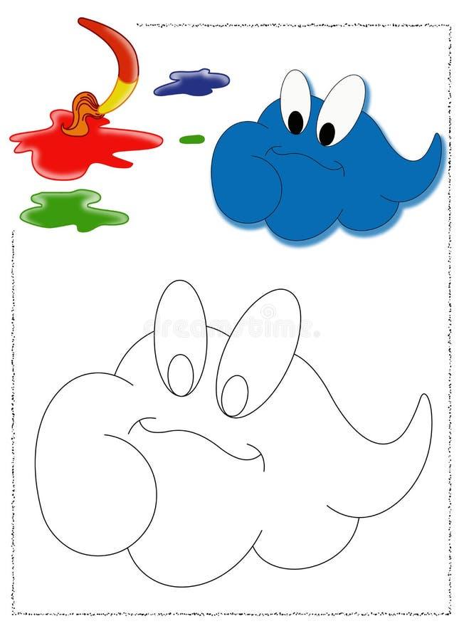 Wolk van kleur vector illustratie