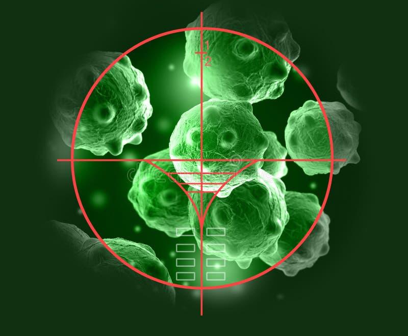 Wolk van micro organizam vector illustratie