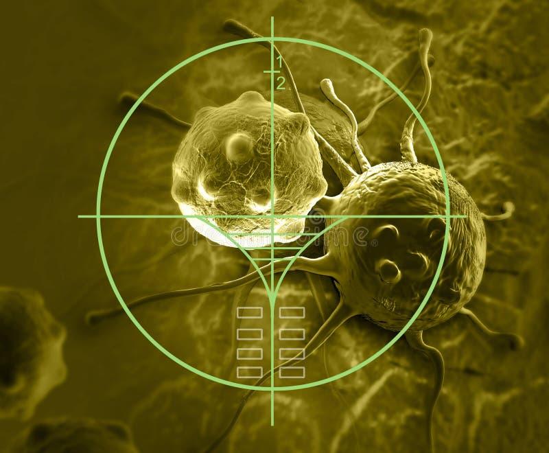 Wolk van micro organizam stock illustratie