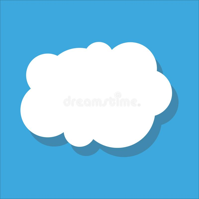 wolk Vector illustratie royalty-vrije illustratie