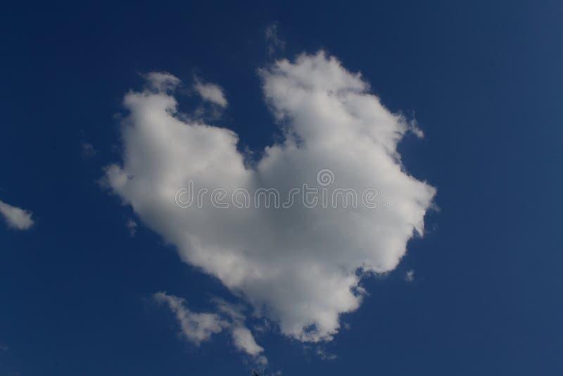 Wolk in vorm van hart royalty-vrije stock foto's