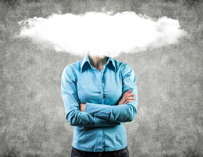 Wolke auf einem Kopf lizenzfreie stockbilder