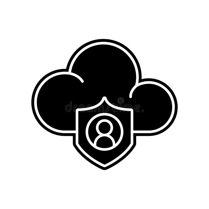 Wolke, Datenikone Element des Projektes der allgemeinen Daten für bewegliches Konzept und Netz Appsikone Glyph, flache Ikone für  lizenzfreie abbildung