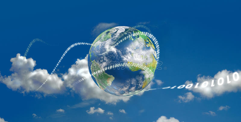 Wolke, die technologische Entwicklung berechnet lizenzfreie abbildung