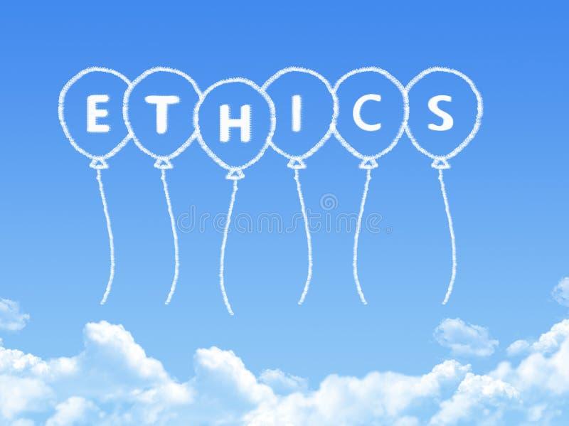 Wolke geformt als Ethik Mitteilung lizenzfreie abbildung