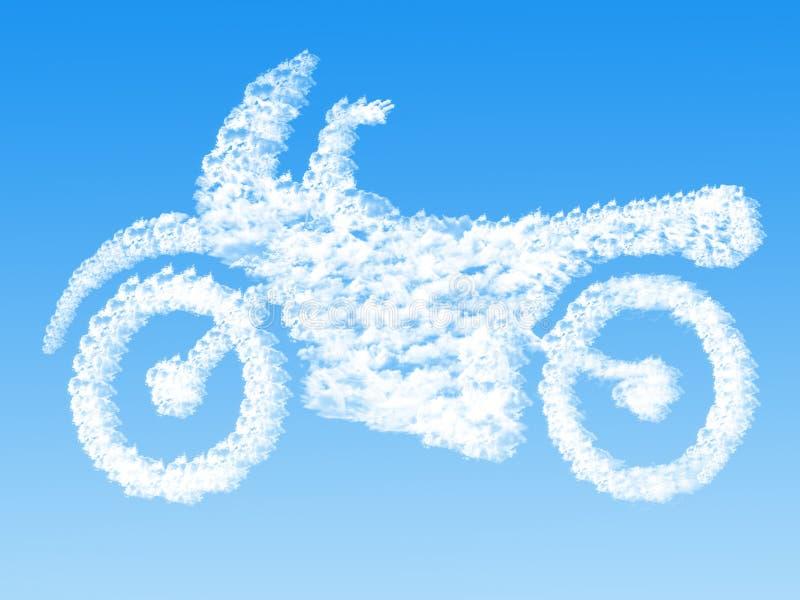 Wolke geformt als Motorrad, Traumkonzept vektor abbildung