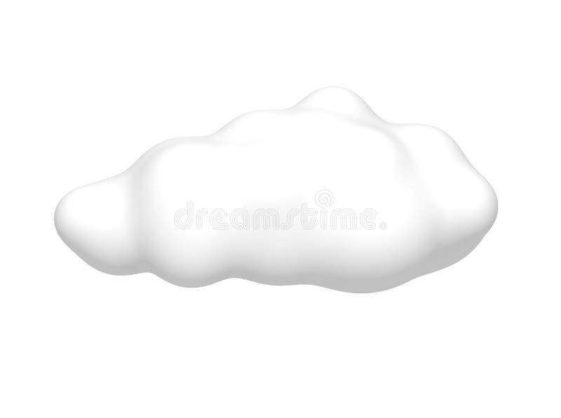 Wolke getrennt auf Weiß lizenzfreie abbildung