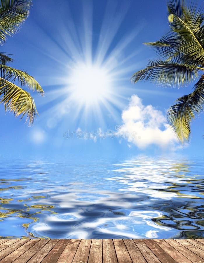 Wolke im Himmel und im Wasser stockfotos