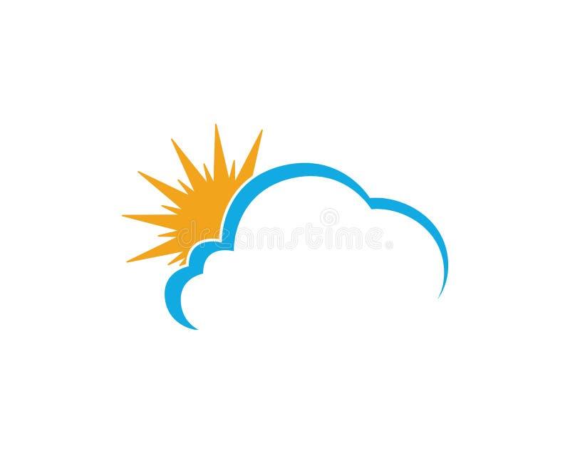 Wolke Logo Template Design Icons Vector lizenzfreie abbildung