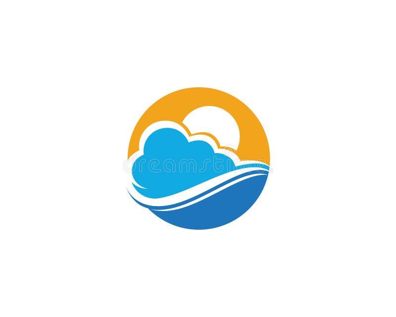 Wolke Logo Template Design Icons Vector stock abbildung