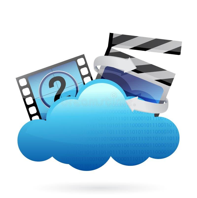 Wolke mit Filmrahmen vektor abbildung