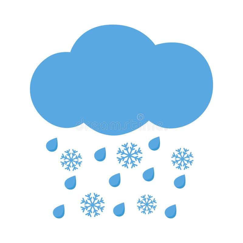 Bildergebnis für pikto rege schnee wolke