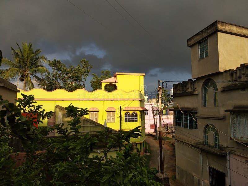 Wolke mit Sonnenschein stockfotografie