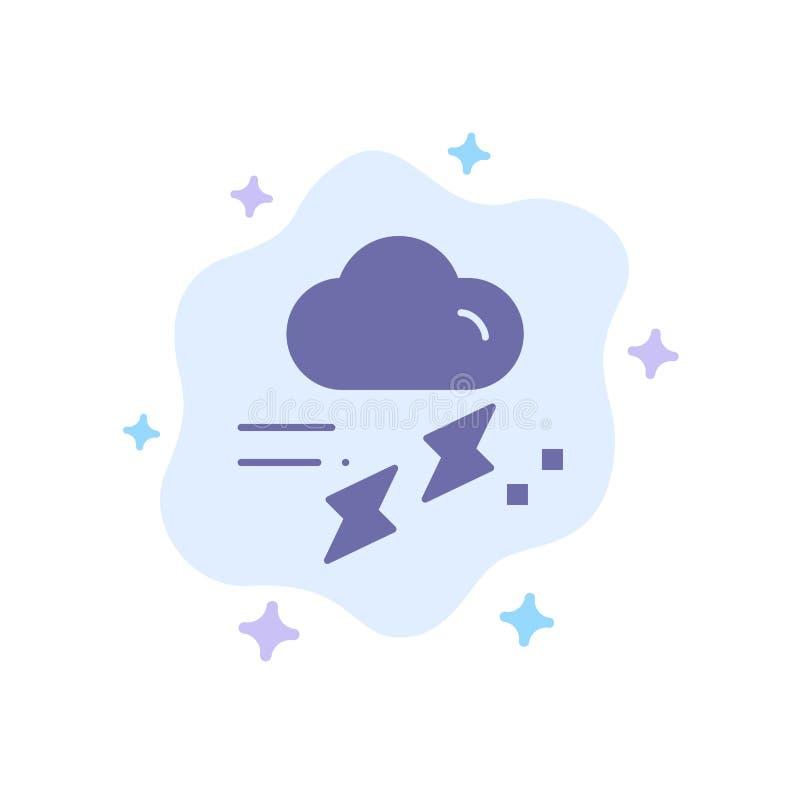 Wolke, Regen, Niederschlag, regnerisch, Donner-blaue Ikone auf abstraktem Wolken-Hintergrund lizenzfreie abbildung