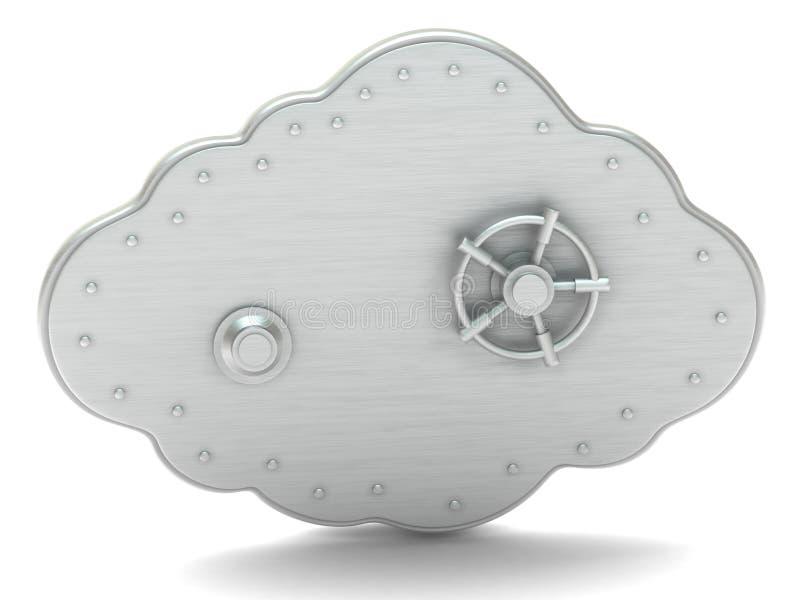 Wolke - sicherer Kasten lizenzfreie abbildung