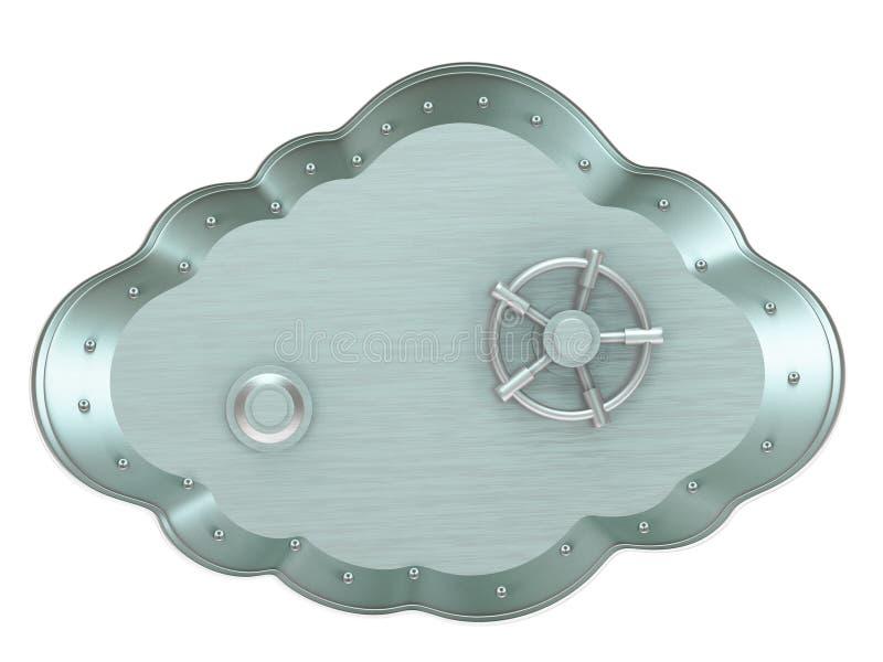 Wolke - sicherer Kasten stock abbildung