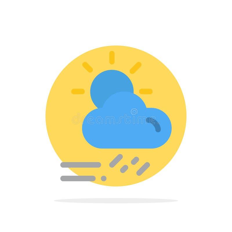 Wolke, Tag, regnerisch, Jahreszeit, flache Ikone Farbe Wetter-des abstrakten Kreis-Hintergrundes stock abbildung