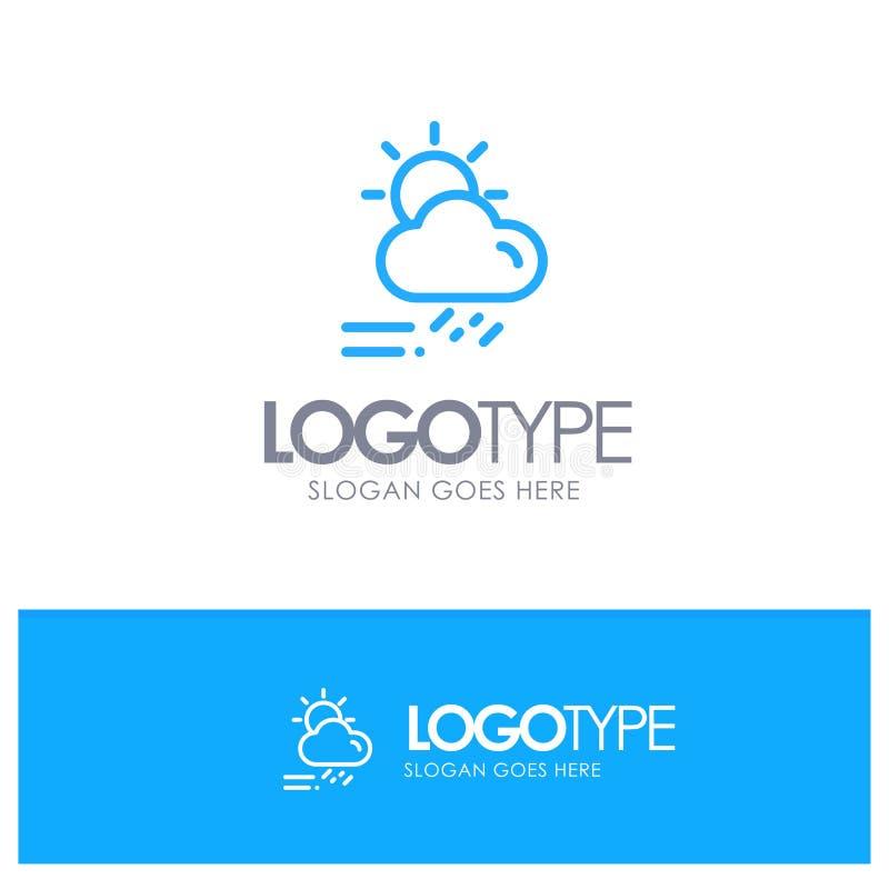 Wolke, Tag, regnerisch, Jahreszeit, Wetter-blauer Entwurf Logo Place für Tagline stock abbildung