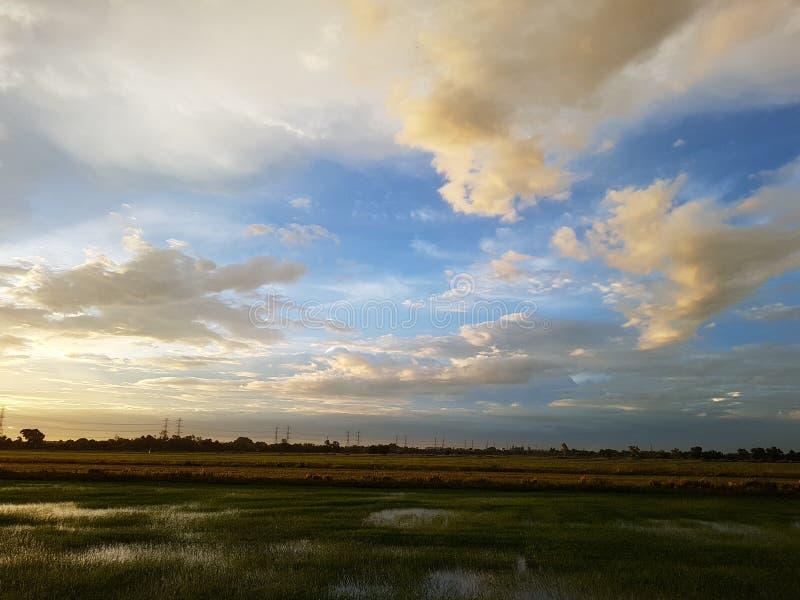 Wolke und Feld lizenzfreies stockfoto