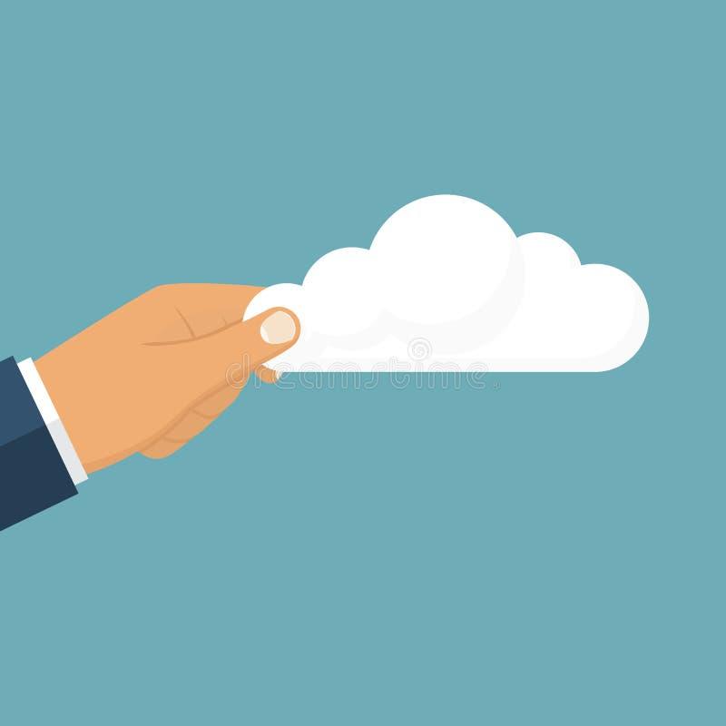 Wolke, welche die Männer hält lizenzfreie abbildung