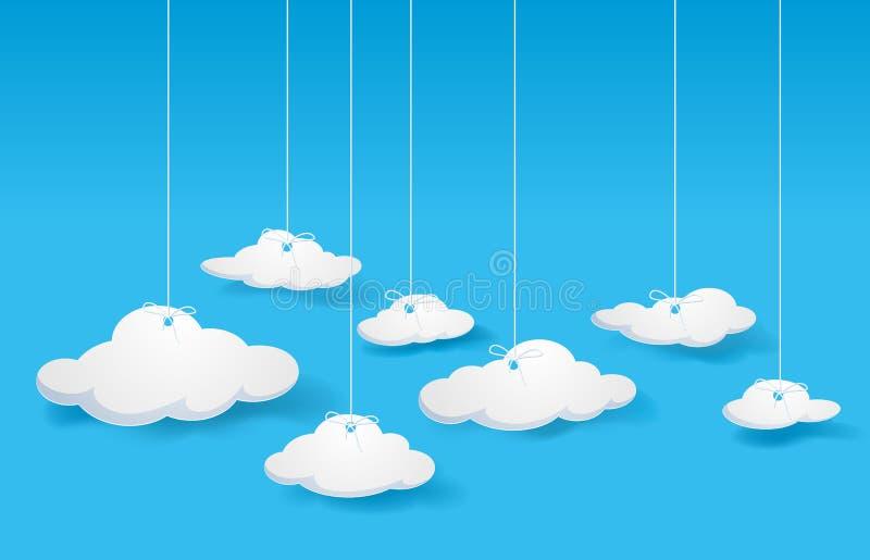 Wolken vektor abbildung