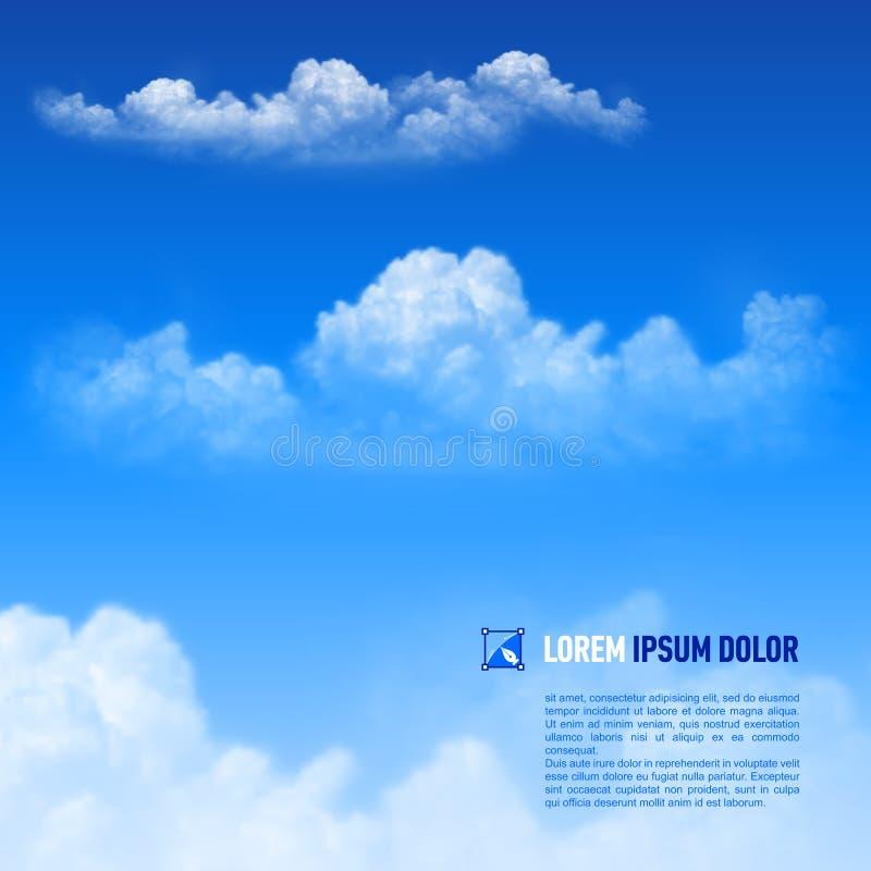 Wolken stock illustratie