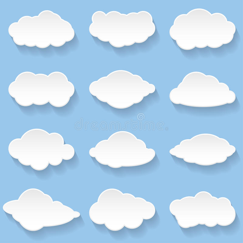 Wolken vector illustratie