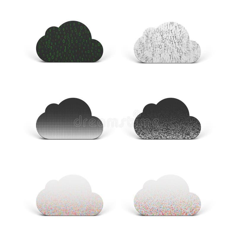 Wolken-APP-Ikonen eingestellt für Technology Company stock abbildung