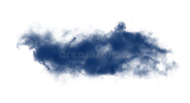 Wolken of blauwe rook royalty-vrije stock foto