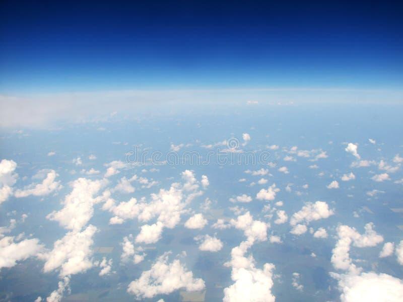 wolken boven horizon royalty-vrije stock foto