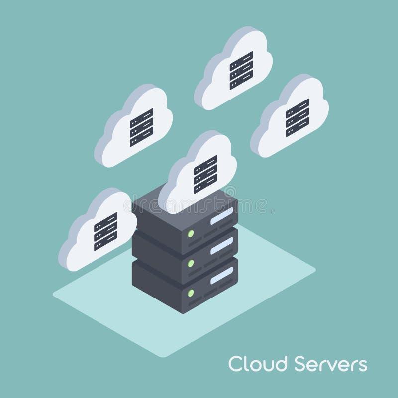 Wolken-Daten-Migration lizenzfreie abbildung