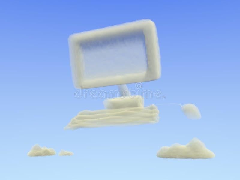 Wolken-Datenverarbeitung stockfotografie