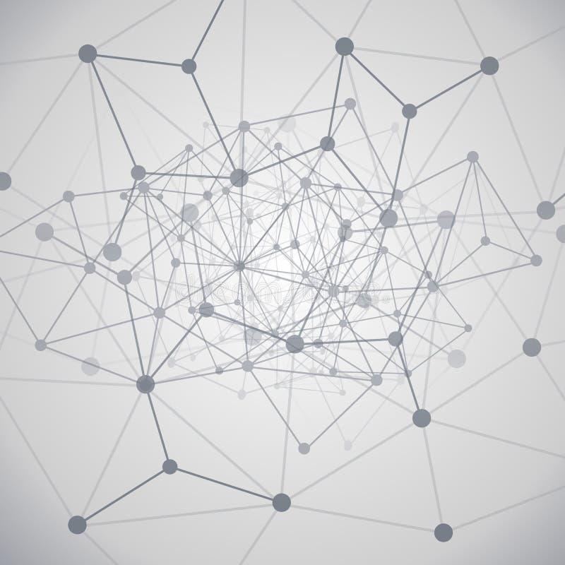 Wolken-Datenverarbeitung und Netz-Konzept stock abbildung