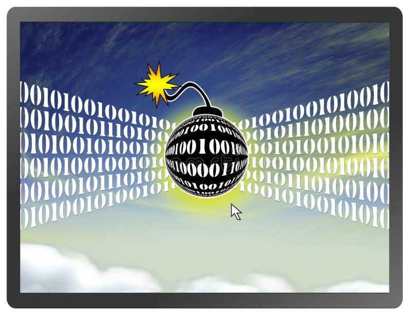 Wolken-Datenverarbeitungsangriffe stock abbildung