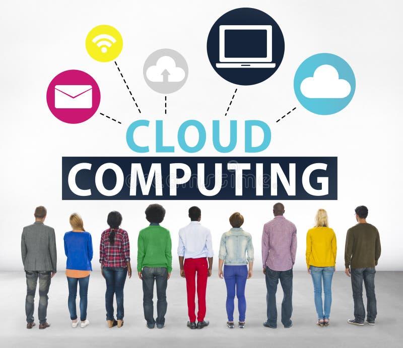 Wolken-Datenverarbeitungsnetz-on-line-Internet-Speicher-Konzept lizenzfreie stockfotos