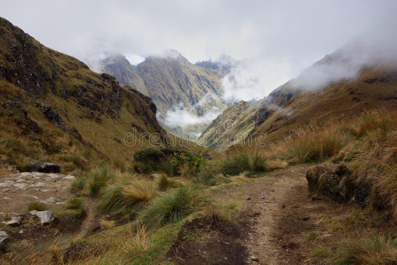 Wolken in de Andes stock fotografie